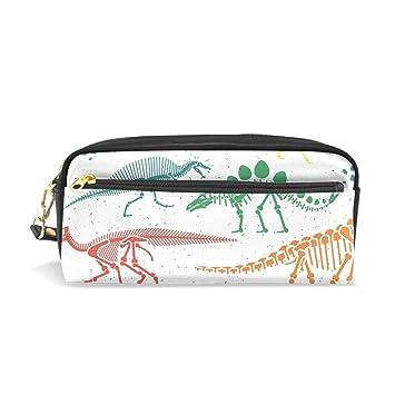 Ahomy dinosaurio esqueleto colorido lápiz estuche doble ...