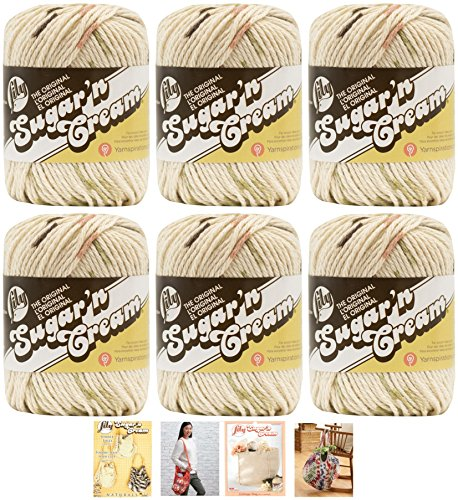 - Bulk Buy: Lily Sugar'n Cream Yarn 100% Cotton Solids and Ombres (6-Pack) Medium #4 Worsted plus 4 Lily Patterns (Sonoma Prints 02018)