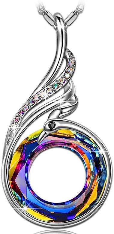 Kate Lynn Collar Mujer con Cristales de Swarovski, Nirvana de Phoenix declaración Joyas Colgante, simbolizando Suerte y renovación, Elegante Caja de ...