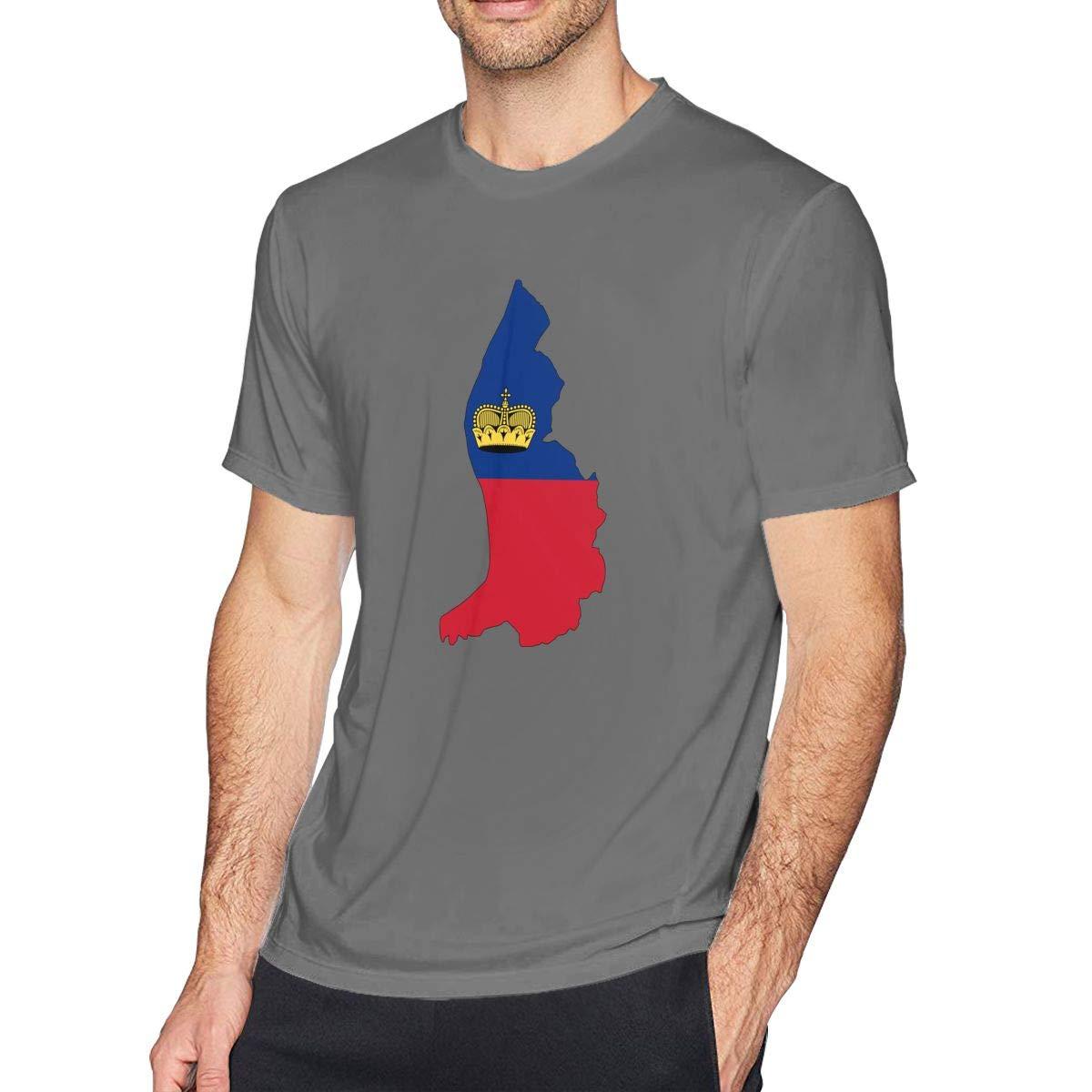 SUMT4men Liechtenstein Mens Crew Neck Short Sleeve T-Shirt Casual Shirt for Men