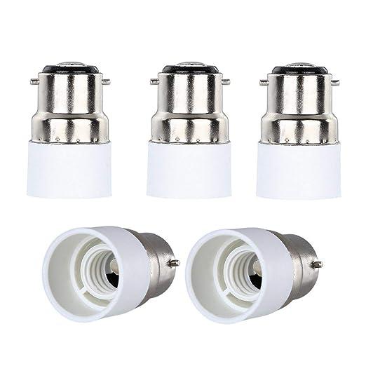 Convertidor Yblntek de casquillos de bombillas, para bombillas LED, 5 unidades, B22 to
