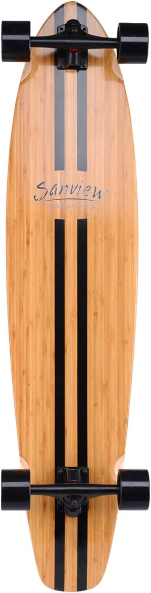 SANVIEW 42inch Complete Bamboo Longboard Skateboards Cruiser