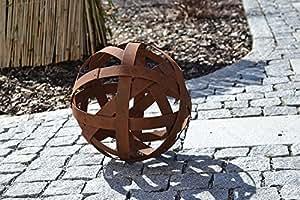 Bola rayas rejilla para jardín decoración Adorno Acero inoxidable tuerca Día regalo