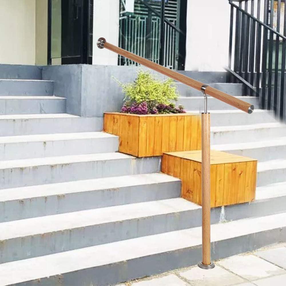 Main courante murale pour ext/érieur UISEBRT Rampe descalier en bois