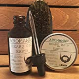 Aromaman Beard Care All-Natural Hand Crafted Beard Oils, Balms and Beard Brush. Choose your scent and size