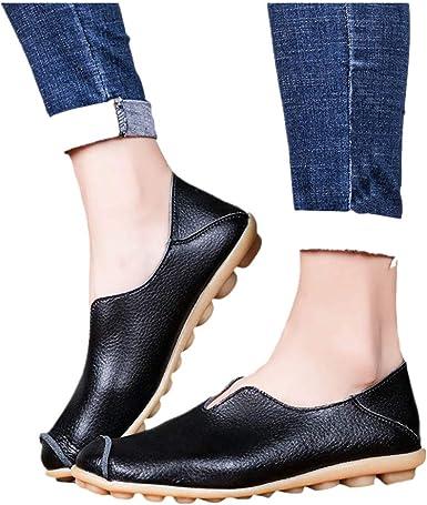 Flat Shoes for Women Round Toe PU Slip