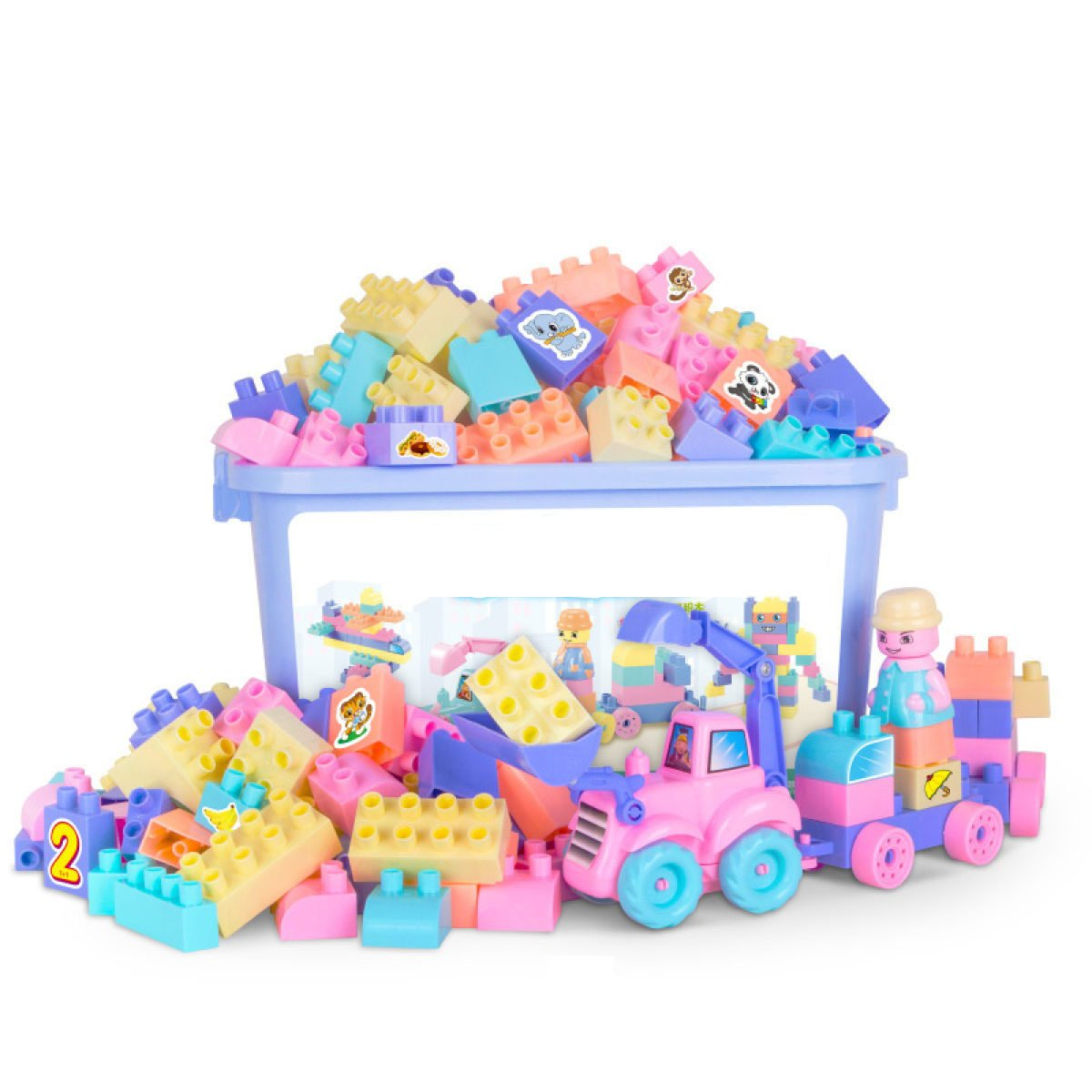 MEI Juguetes Para Niños Bloques Para Niños Juguetes Educativos Juguetes Ensamblados De Plástico Para Niños Tamaño Del Producto: 16.9in  11.8in  9.4in