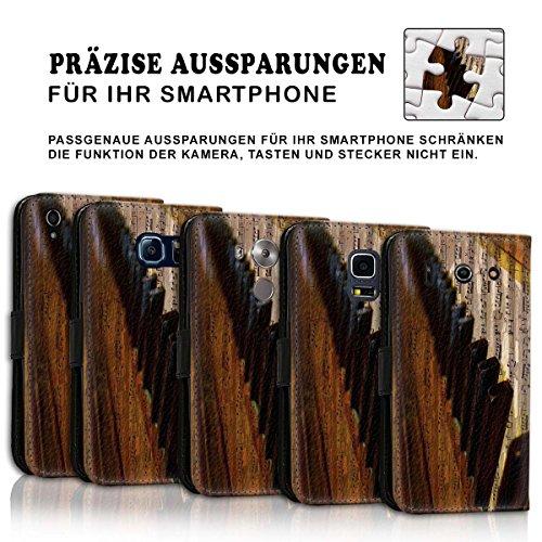 Wallet Book Style Flip Handy Tasche Case Schutz Hülle Schale Motiv Etui für Apple iPhone 4 / 4S - Design Flip MV45