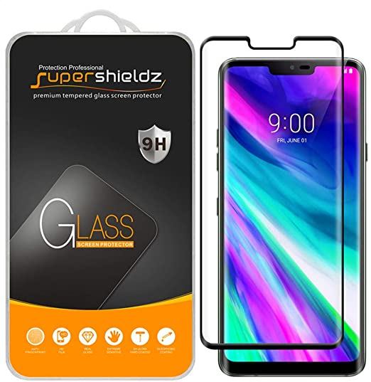 promo code bef5e 08b72 [2-Pack] Supershieldz for LG G8 ThinQ Tempered Glass Screen Protector,  [Full Cover][3D Curved Glass] Anti-Scratch, Bubble Free, Lifetime  Replacement ...