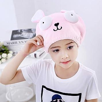 Amazon Com Kids Girls Hair Drying Towel Cap Ultra Soft Microfiber