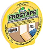 FrogTape CF 160 Painter's Tape, Delicate Surface, 24mm x 55m, Yellow, 1 Roll (105550)