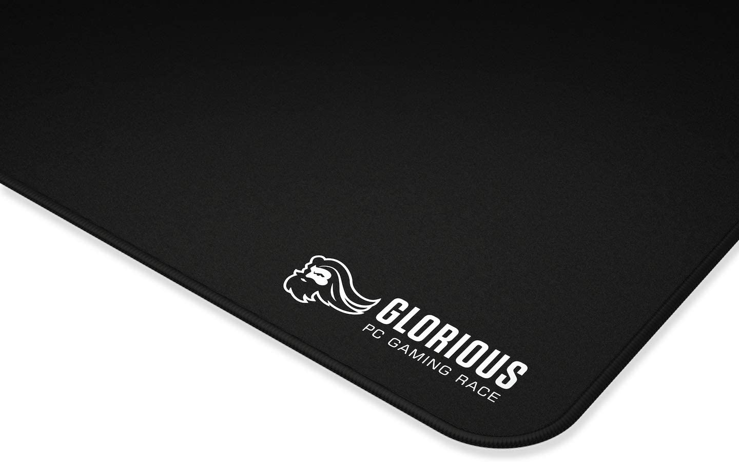 Stitched Edges Glorious Large Gaming Mouse Mat//Pad Black Cloth Mousepad11X