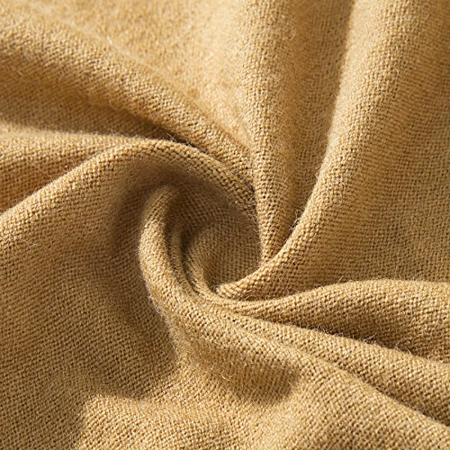 PULI Women's Versatile Knitted Scarf with Buttons Shawl Poncho Cape Cardigan, Khaki by Puli (Image #6)