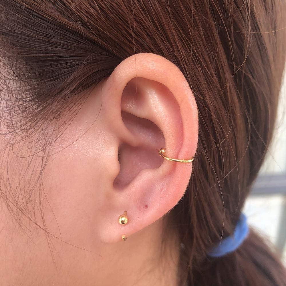 Hypoallergenic Love Heart Hoop Earrings Ear Stud Piercing Earrings Cute Gift