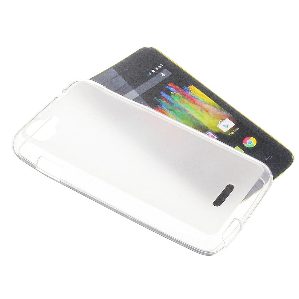 Wiko Kite 4GラバーTPU携帯電話カバー透明ホワイト用保護ケース B00NZ2K57S