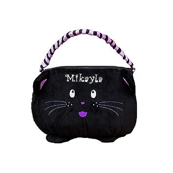 Amazon.com: giftsforyounow gato negro personalizado bolsa de ...