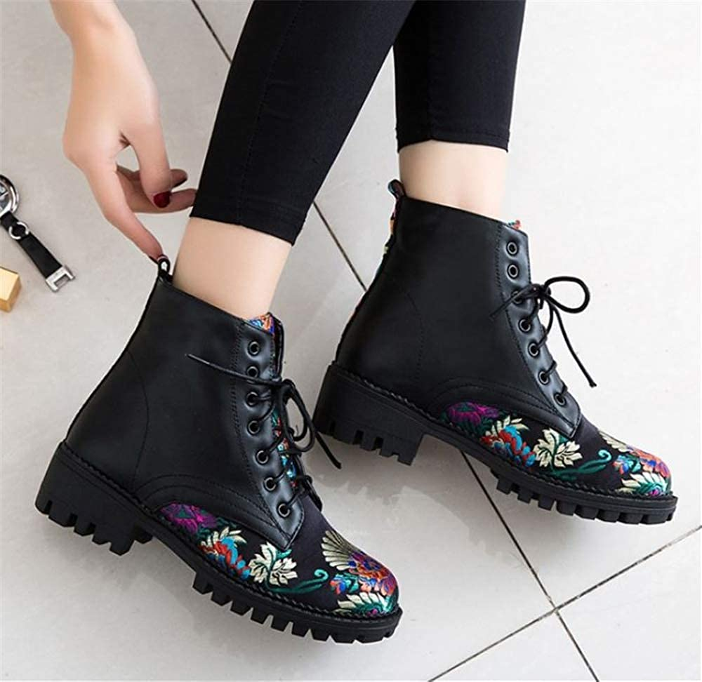 eleganceoo Womens Fashion High Heel Western Ankle Boot Shoes