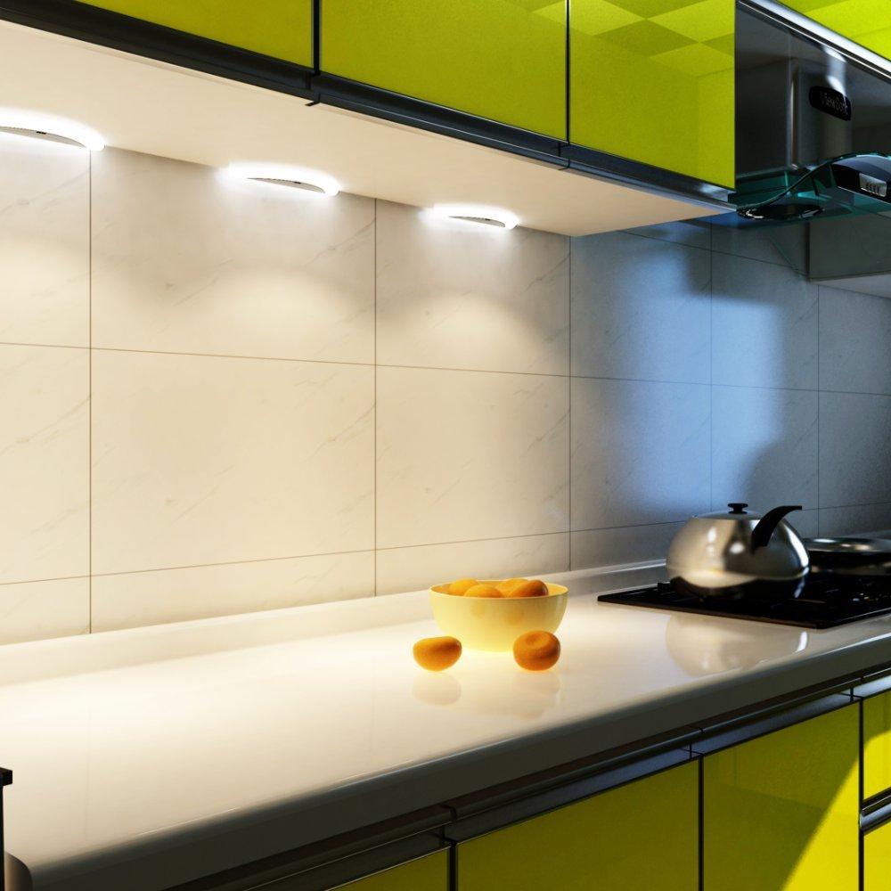 LED Küchenleuchte Sensor SET Unterbauleuchte Küchenlampe Unterbaustrahler, Auswahl 4er Set warmweiss