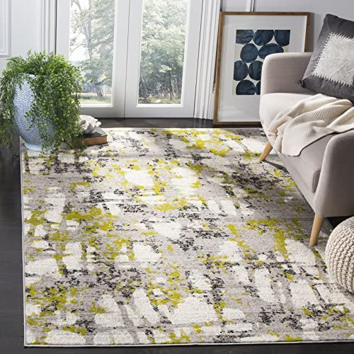 Safavieh Skyler Collection SKY193G Modern Contemporary Abstract Area Rug, 9 x 12 , Grey Green