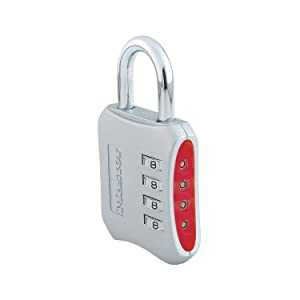 Master Lock 653D Set Your Own Combination Padlock 1 Pack Assorted Colors