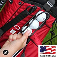 Golf Ball Holder - Pro with Quick-Draw Release (Black)