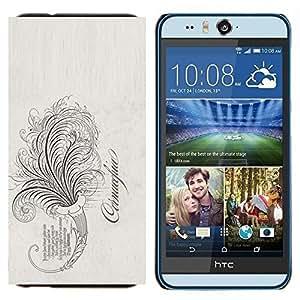 TECHCASE---Cubierta de la caja de protección para la piel dura ** HTC Desire Eye ( M910x ) ** --La palabra vides