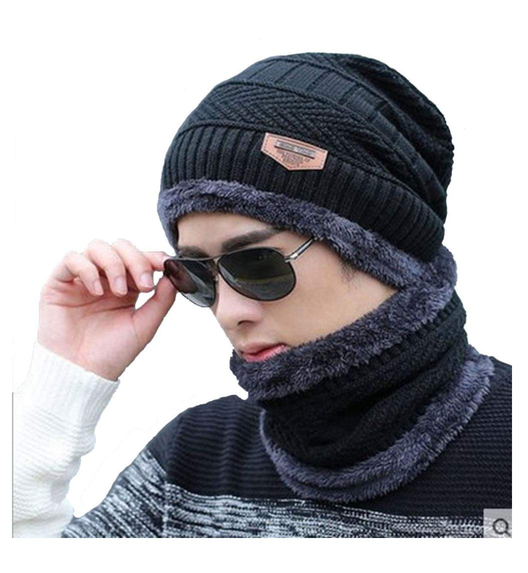 AlexVyan Premium Quality Ultra Soft Unisex Woolen Beanie Cap Plus Neck Scarf Set for Men Women Girl Boy - Warm, Snow Proof - 20 Degree Temperature product image