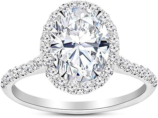 3.00 Ct Oval Cut VVS1 Diamond Three Stone Engagement Ring 14k Yellow Gold Finish
