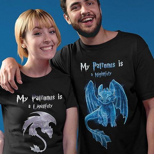 7025580a3 Amazon.com: My Patronus Is A Night/Light Fury Dragon Toothless Customized  Handmade T-shirt/Hoodie/Sweater/Long Sleeve/Tank Top: Handmade