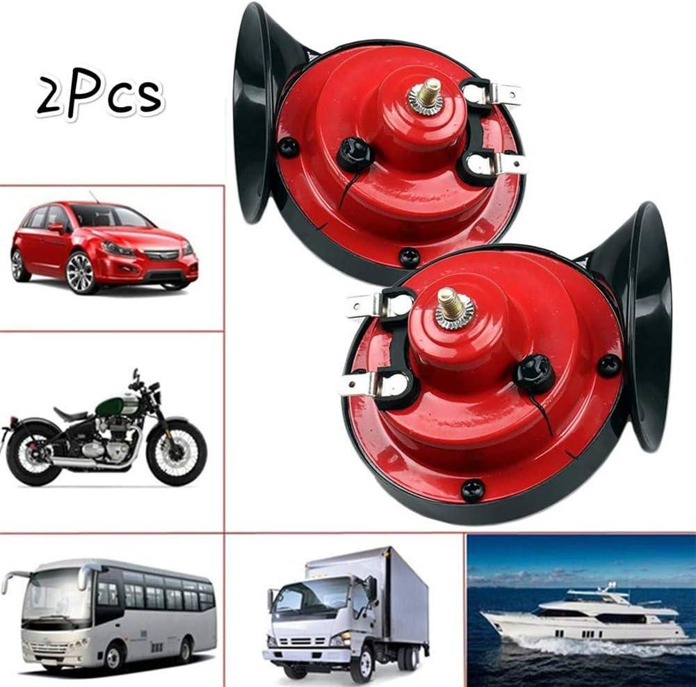 OHYONIZ Bocina de 300 DB Super Train para Camiones bocina de Caracol el/éctrico Caracol el/éctrico de Aire Ruidoso Doble bocina de Sonido para Coches Bicicletas / Motocicletas