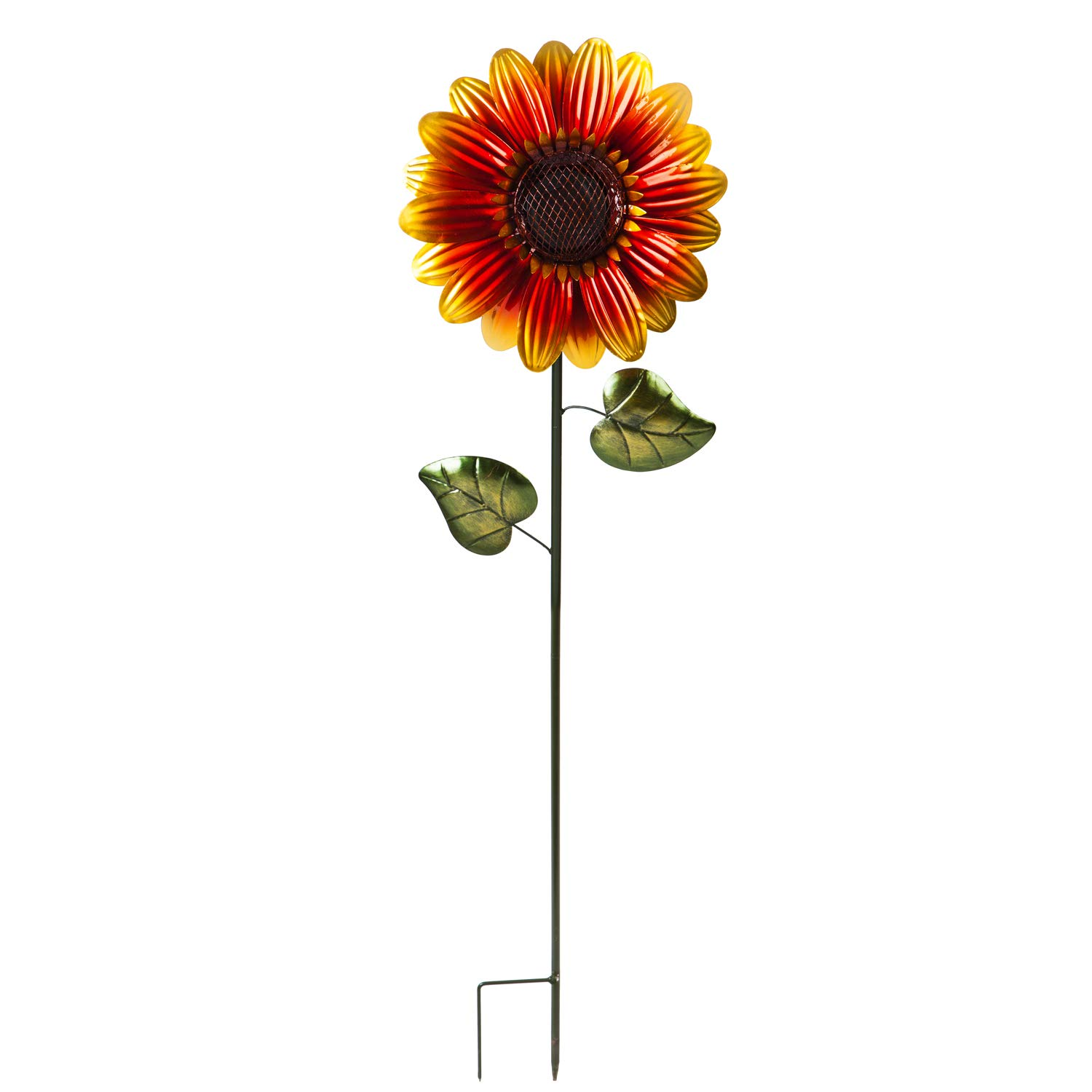 "Evergreen Garden Sunflower 38"" H Secret Solar Garden Stake 11.6 x 5.9 x 38 Inches"