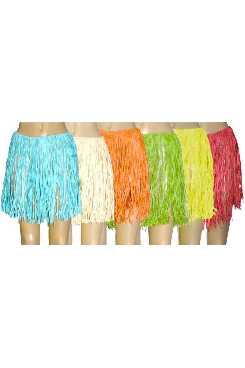 Faldas de rafia natural, 40 cm, 6 unidades, colores surtidos ...