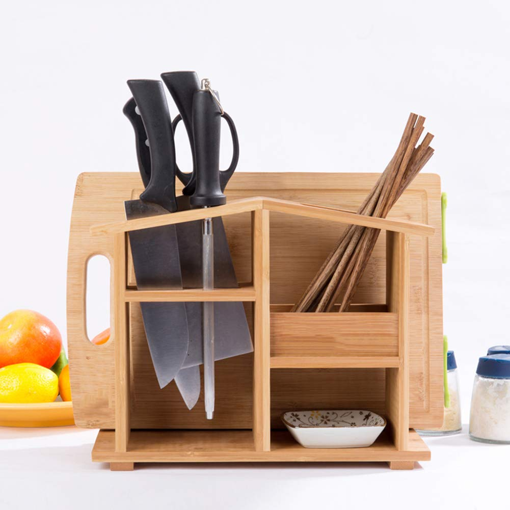 Shelf Storage Racks Cupboard Organizers Cutlery Racks Bamboo Kitchen Multifunction Shelf Tool Holder Storage Rack Multifunction ZHAOYONGLI by ZHAOYONGLI-shounajia (Image #2)
