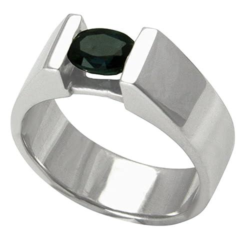 9f1a96f7023f Safir Anillo Plata Oro herrero trabajo (Plata de ley 925) - Zafiro anillo -  Único Fabricación con Expertise  Amazon.es  Joyería
