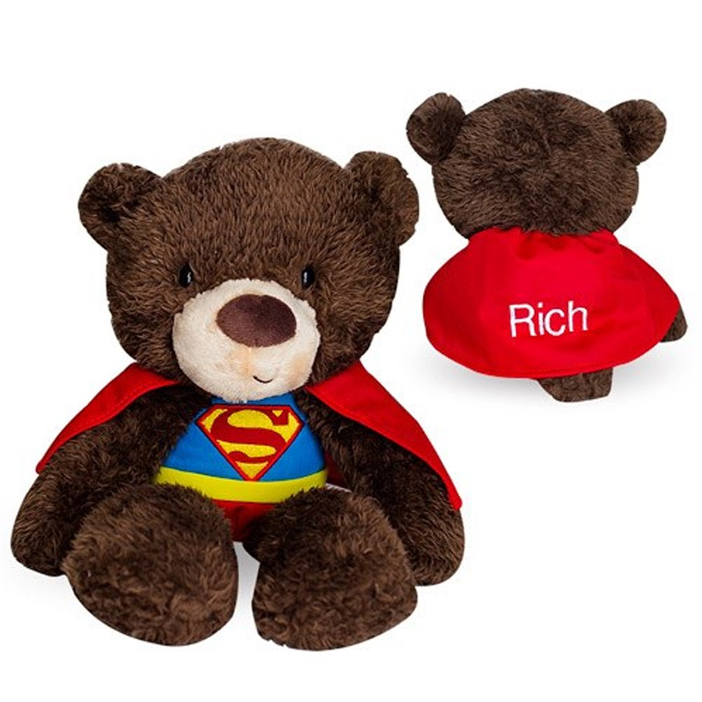 GiftsForYouNow Superman Personalized Plush Bear, Embroidered by GiftsForYouNow