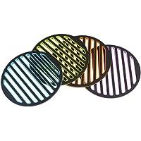 双枪 多彩加厚硅胶餐垫隔热垫子 创意多彩杯垫 碗垫盘垫茶杯垫 DZ1131-4(亚马逊自营商品, 由供应商配送)