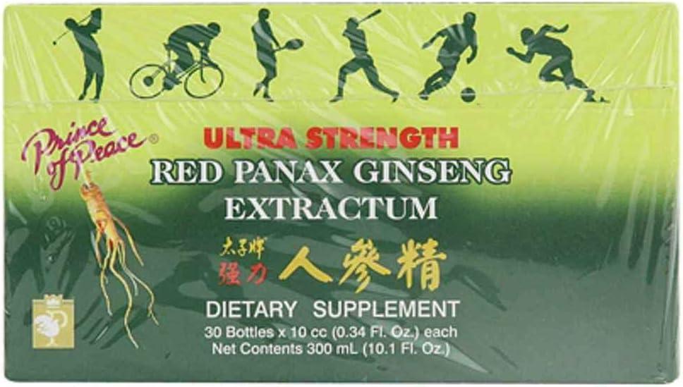 Chinese Red Panax Ginseng - 1200mg 30 Units 10 cc