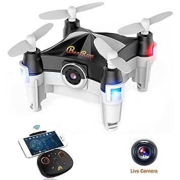 Beebeerun Mini Drone Plegable con Cámara, Altitude Hold 360 ...