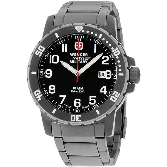 Wenger Off Road Reloj de Hombre Cuarzo 43mm Correa de Titanio 01.1341.208S: Amazon.es: Relojes