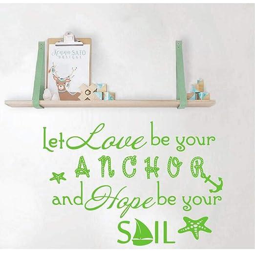 Mhdxmp Citar Tatuajes De Pared Let Love Be Your Anchor Pegatinas ...