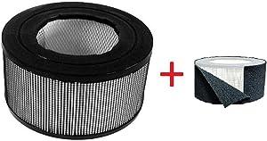 BlueBird Filters Honeywell Replacement Filter Kit 17000-S - 20500 True HEPA Filter + Exact Fit Pre Cut Carbon Pre Filters (1 HEPA Filter + 1 Carbon Wrap)