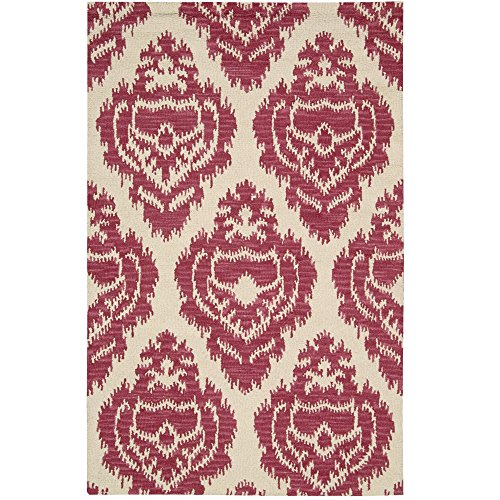 Nourison Bbl8 Ampur (AMP03) Garnet Rectangle Area Rug, 3-Feet 6-Inches by 5-Feet 6-Inches (3'6