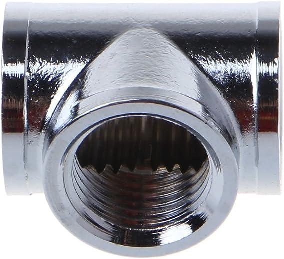 Divisor en T con 3 conectores G1//4 de rosca para refrigeraci/ón de agua JENOR