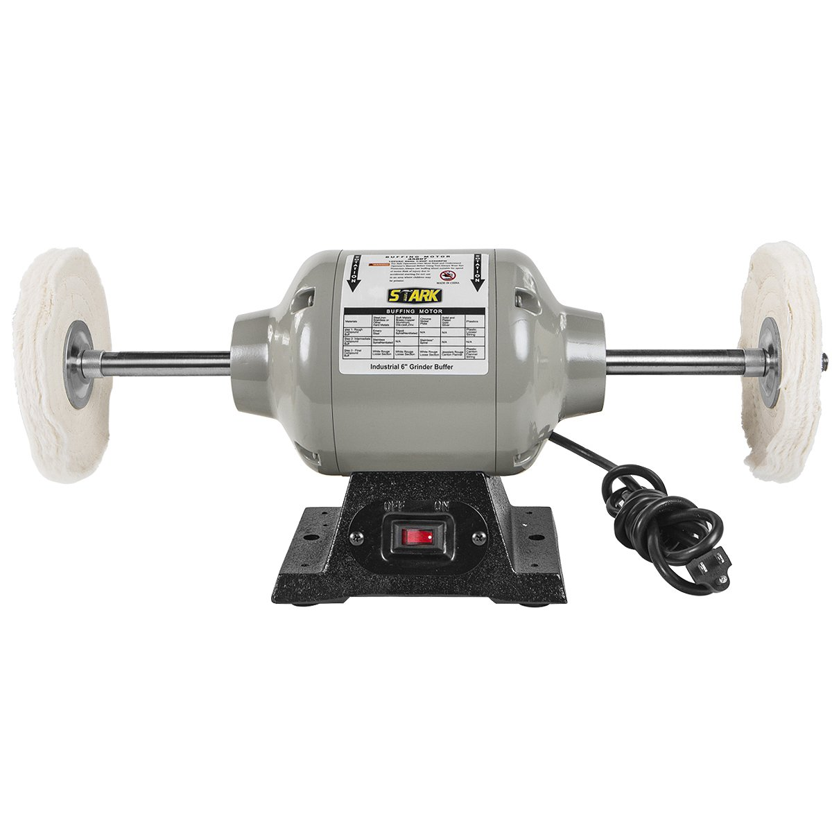 Xtremepowerus 6 Inch Benchtop Buffer Polisher Grinder Heavy Duty 25. Xtremepowerus 6 Inch Benchtop Buffer Polisher Grinder Heavy Duty 25 S 3 450rpm 12 Hp Power Bench Grinders Amazon. Wiring. Br Tool Bench Grinder Wiring Diagram At Scoala.co