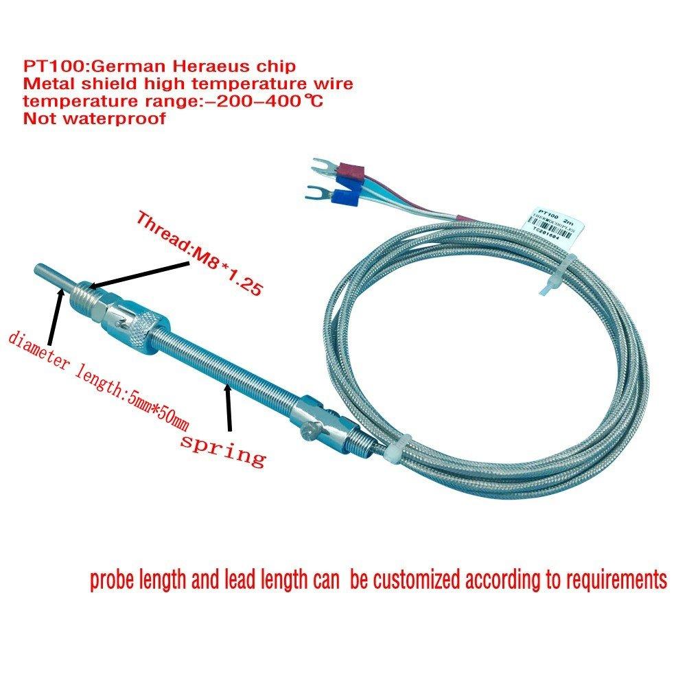 Amazon.com: 5pcs Twidec Temperature sensor PT100 Type Temperature ...