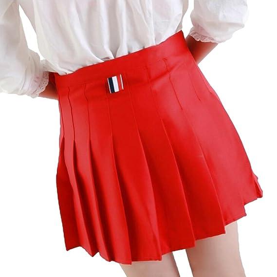 Juleya Faldas Plisadas Cintura Alta Niñas Falda Mini Marinera ...