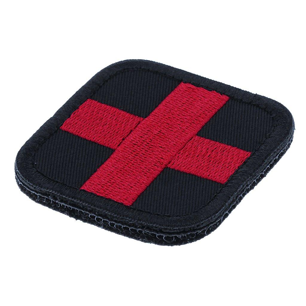 perfk 2 X 2 Pulgadas Gancho Y Lazo Bordado Parche M/édico de Cruz Roja para Mochila Bolsa de Botiqu/ín de Primeros Auxilios