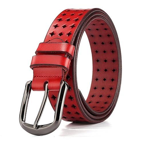 JIEJING Señoras Hueco De Decoración Cinturón,Pin Hebillas Ocio Salvaje Cinturón Jeans Cinturón