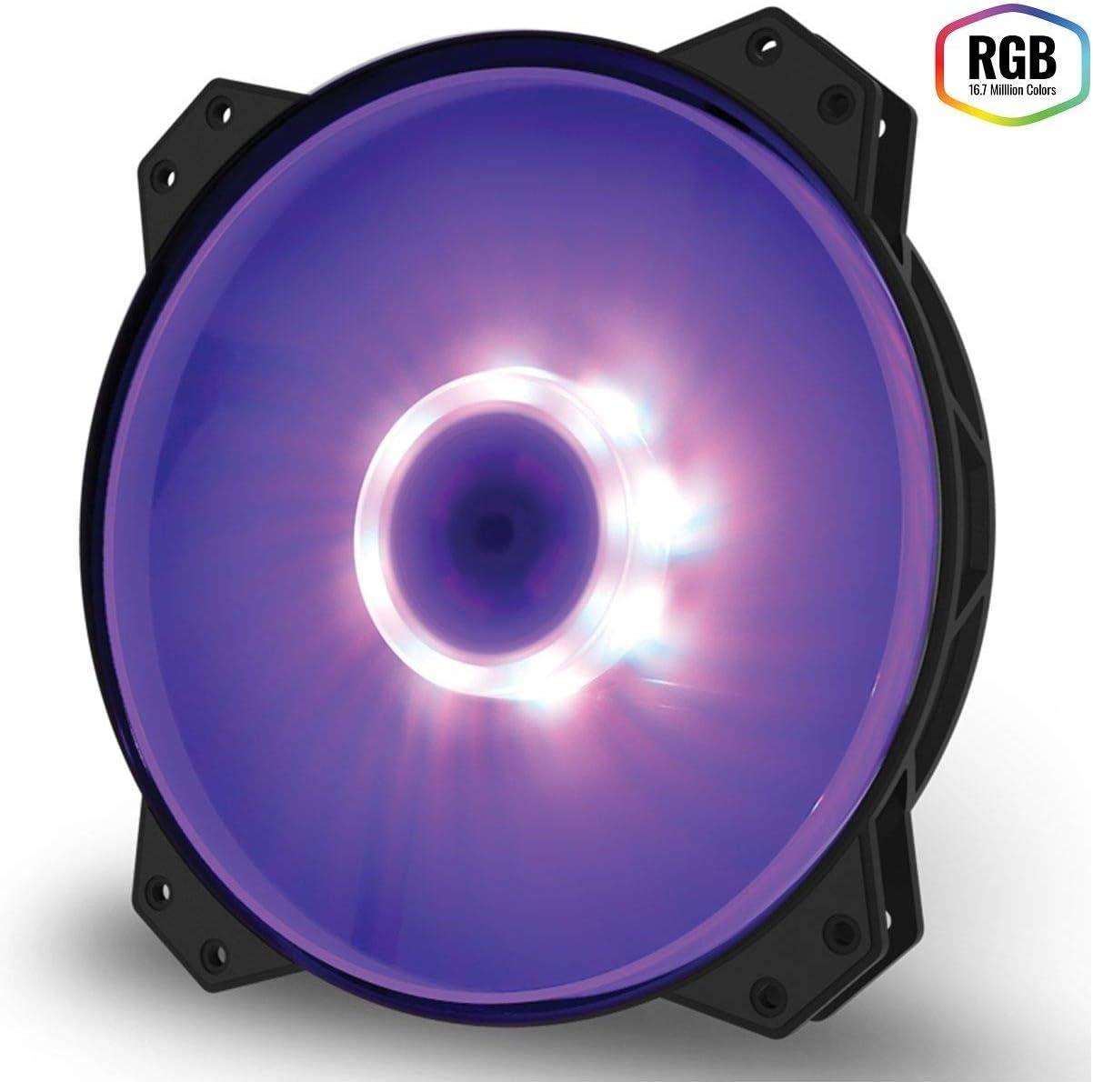 Cooler Master Mf200R RGB - Ventilador de Caja, Color Negro