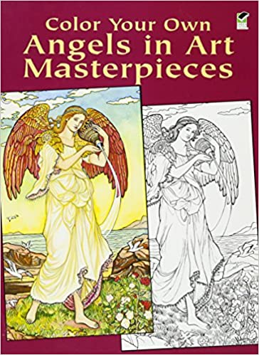 color your own angels in art masterpieces dover art coloring book marty noble 9780486430386 amazoncom books - Coloring Book Angels